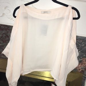 Forever 21 Pale Pink Sheer Blouse